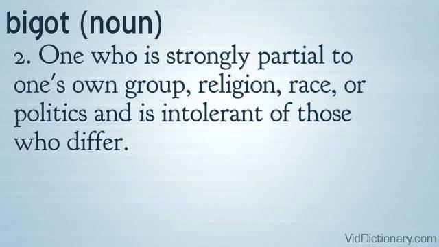 bigotdefinition